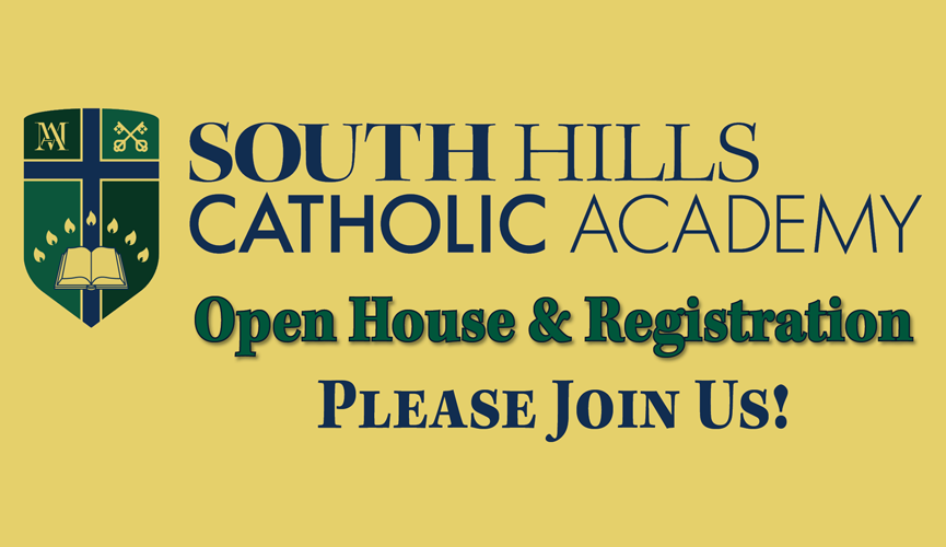 South Hills Catholic Academy Winter Open House & Registration